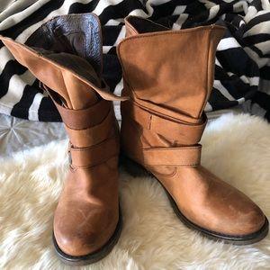 Steve Madden Leather Moto Boots - Women's Size 8